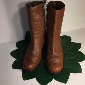 Harley-Davidson Woman's Brown zip up boots Sz 9